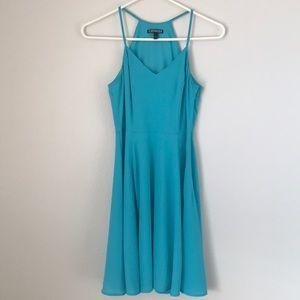 EXPRESS Spaghetti Strap Dress, Blue